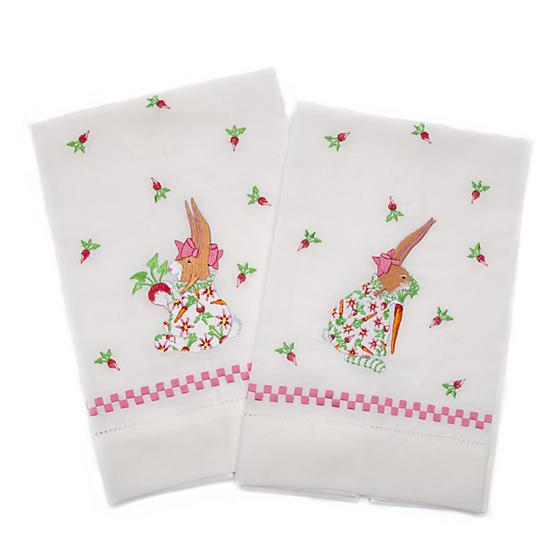 Patience Brewster Rabbit Tea Towels - Set Of 2