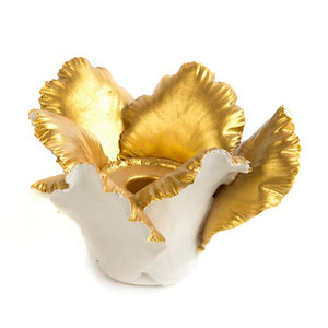 Daffodil Candle Holder - Ivory & Gold