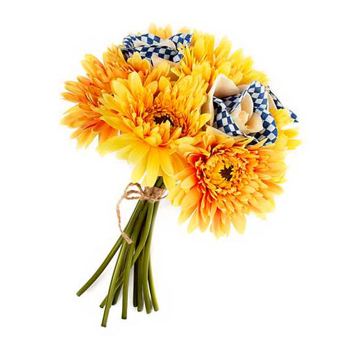 Royal Check Bouquet - Yellow