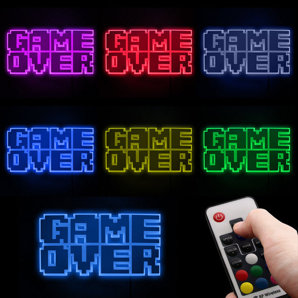 """Game Over"" Wall Light"