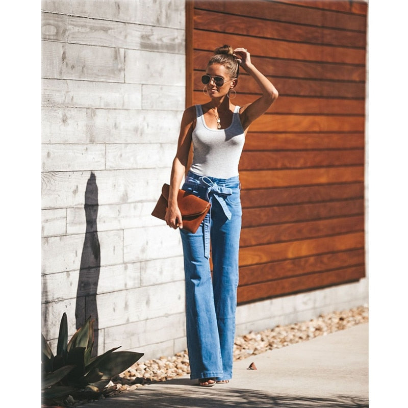 STRETCHY WIDE JEANS