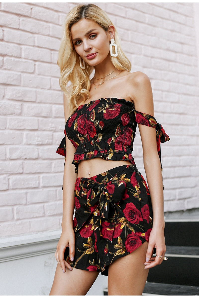 EMILY PRINT TWO PIECE ROMPER