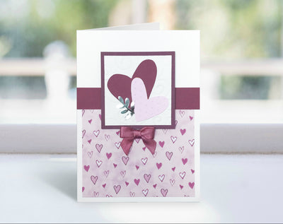 Mauve and Pink Valentine's Day Card Kit