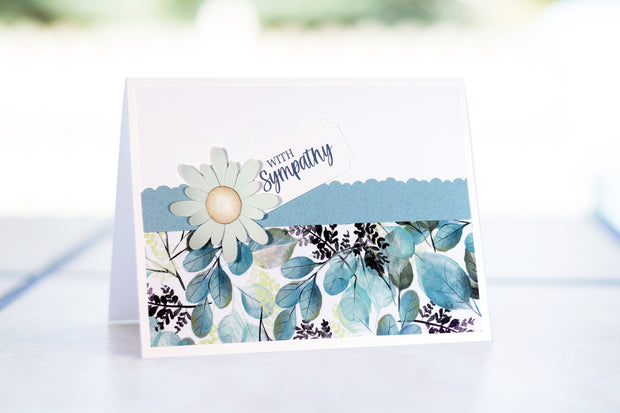 Sympathy Card - Teal Collection