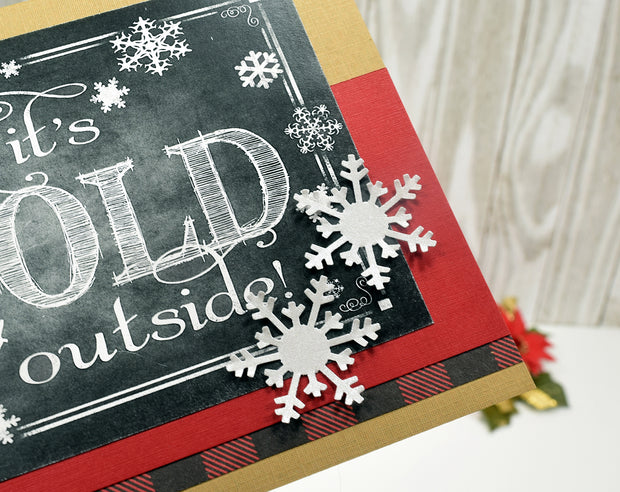 Baby it's Cold Outside Christmas Card Kit - Set of 4