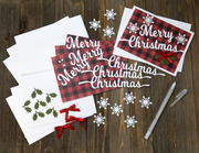 DIY Buffalo Plain Christmas Card Kit - Set of 4