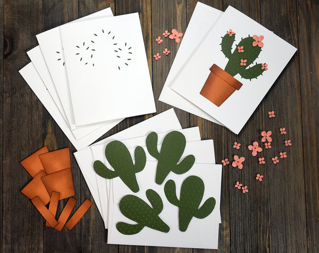 DIY Cactus Note Cards - Set of 5
