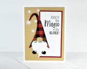 Enjoy the Magic of the Season Gnome Christmas Card Kit - Set of 6