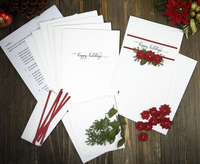 Happy Holidays Greeting Card Kit - 4 card kit