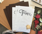 DIY Handmade Thanksgiving Card - September Card of the Month - Set of 4