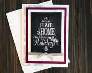 No Place Like Home for the Holidays Chalkboard Printed Card Making Kit