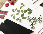 Embossed Season's Greetings Holiday Flag Card Kit