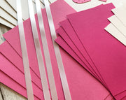Happy Valentine's Day Greeting Card Kit in bright pink and white