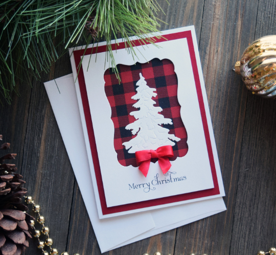 DIY Handmade Buffalo Plain Christmas Card Kit - Set of 5 or 10