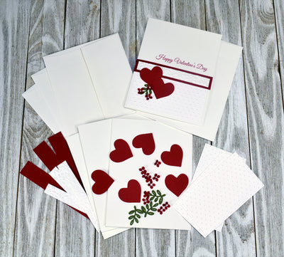 DIY Valentines Day Card Kit - Set of 5