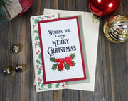 DIY Vintage Style Christmas Card Kit - Set of 4
