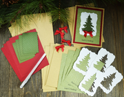 Season's Greetings Christmas Card Kit - Set of 5