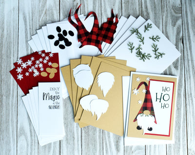 DIY Ho Ho Ho Gnome Christmas Card Kit - Set of 6