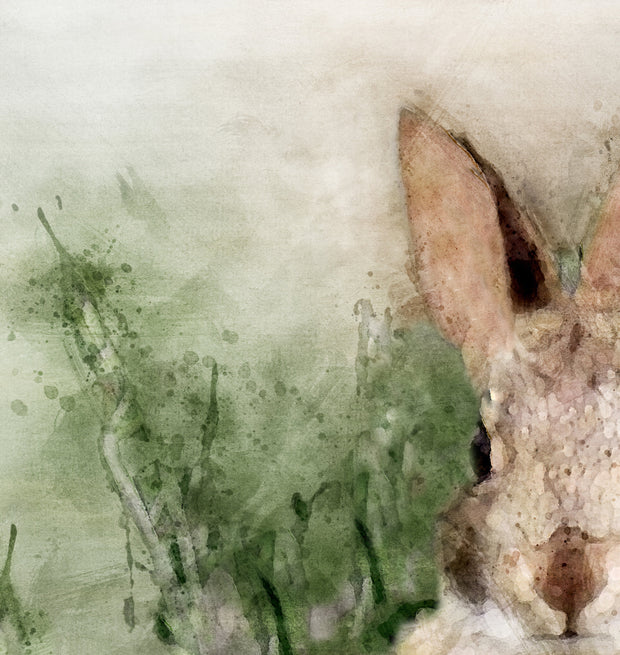 Adorable Bunny Watercolor Print