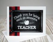 Teacher Thank You Card Kit - 5 card set