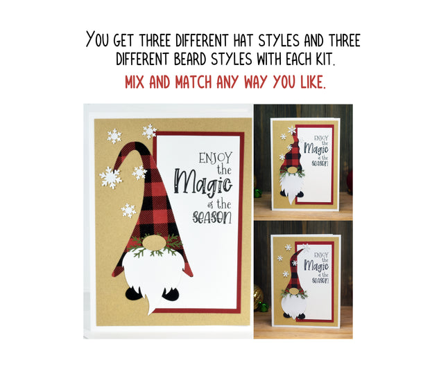 Enjoy the Magic of the Season Gnome Christmas Card Kit