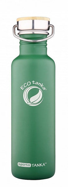 ECOtanka sportsTANKA Retro Green with Steel and Bamboo Lid 800ml