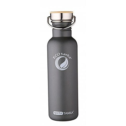 ECOtanka sportsTANKA Anthracite with Steel and Bamboo Lid 800ml
