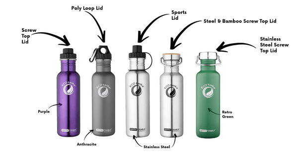 sportsTANKA 800ml ECOtanka™ Single Wall Reusable Bottles
