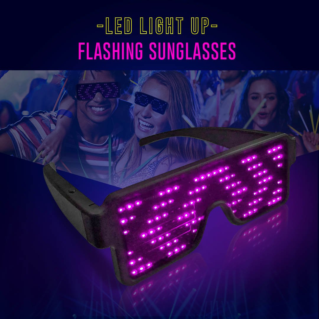 LED Light Up Flashing Sunglasses