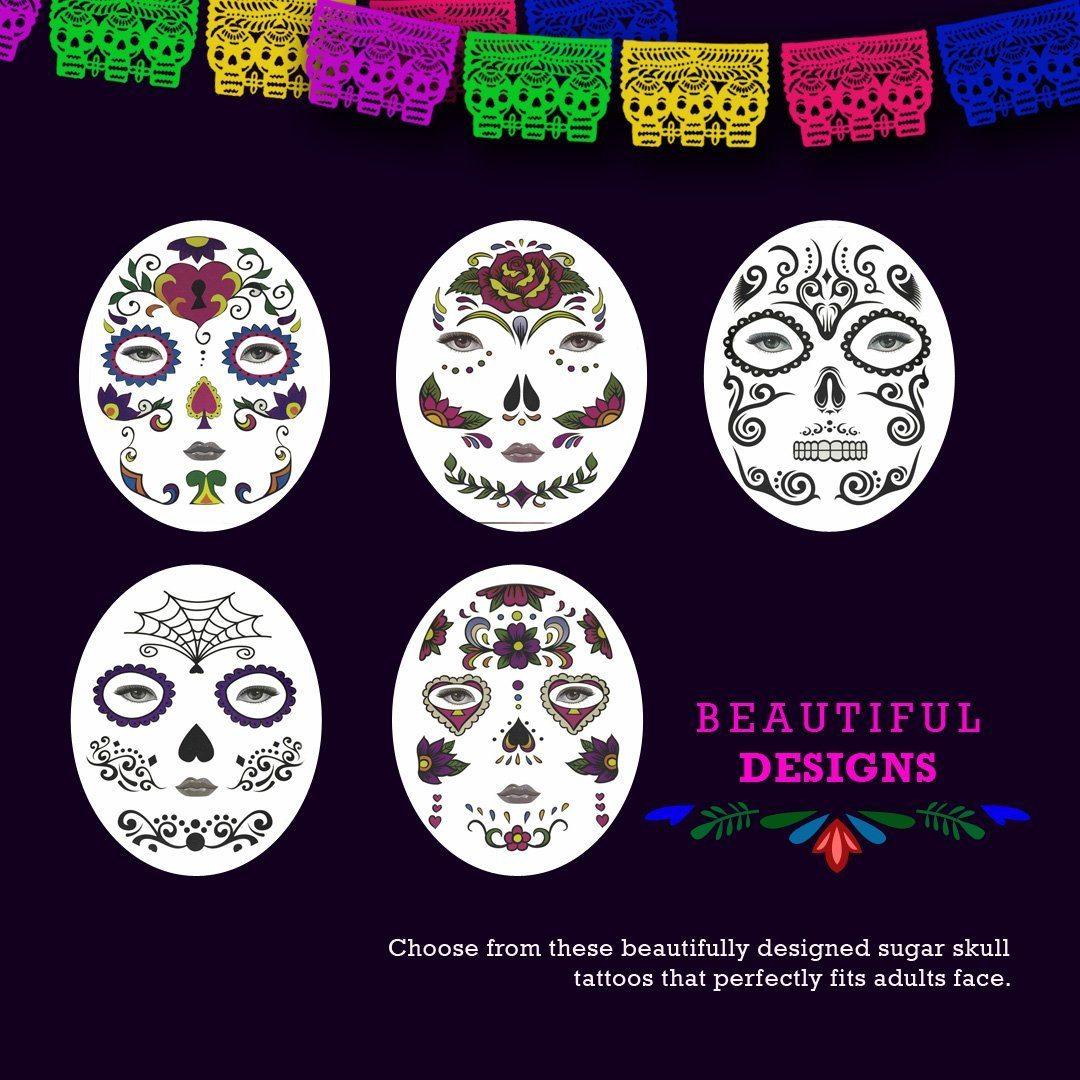 Halloween Temporary Face Art Tattoo