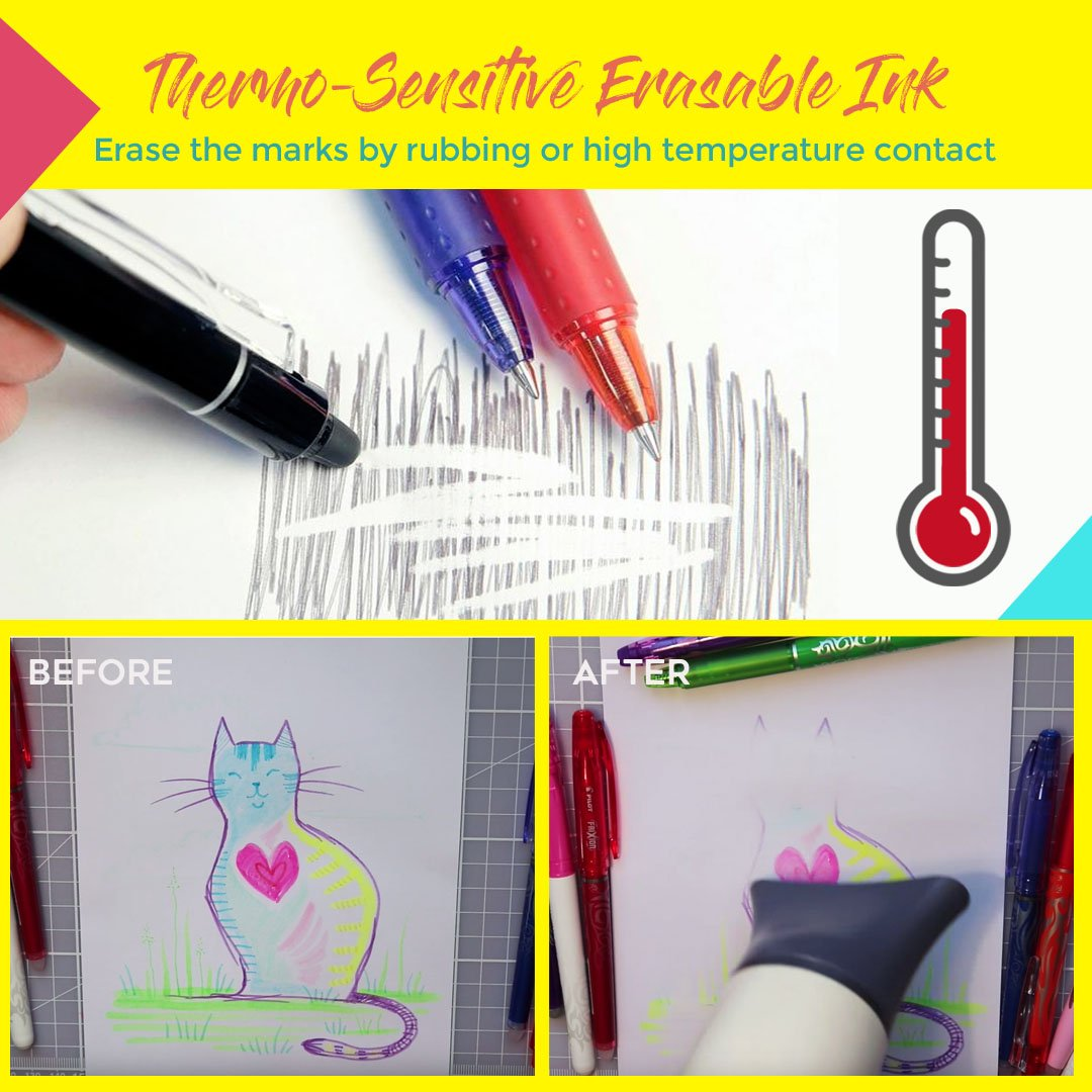 Thermo Sensitive Erasable Marker Pen - 8pcs