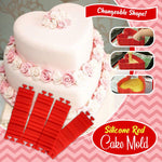 Transformable Silicone Cake Mold Pieces - 4pcs