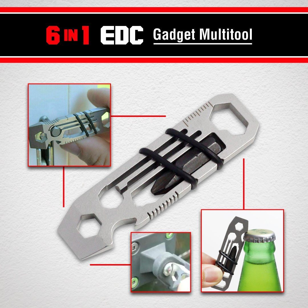 6 in 1 EDC Gadget Multitool