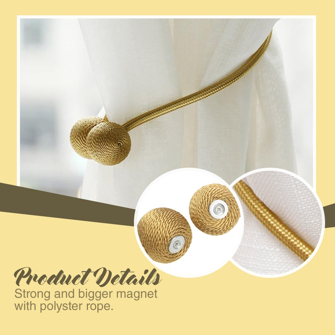 Magnetic Curtain Holder - 2pcs
