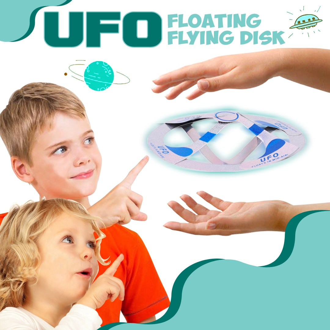UFO Floating Flying Disk - 2pcs