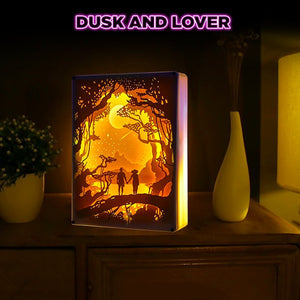 3D Paper Carving Art Lamp