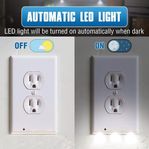 LED Wall Outlet Plate Night Light