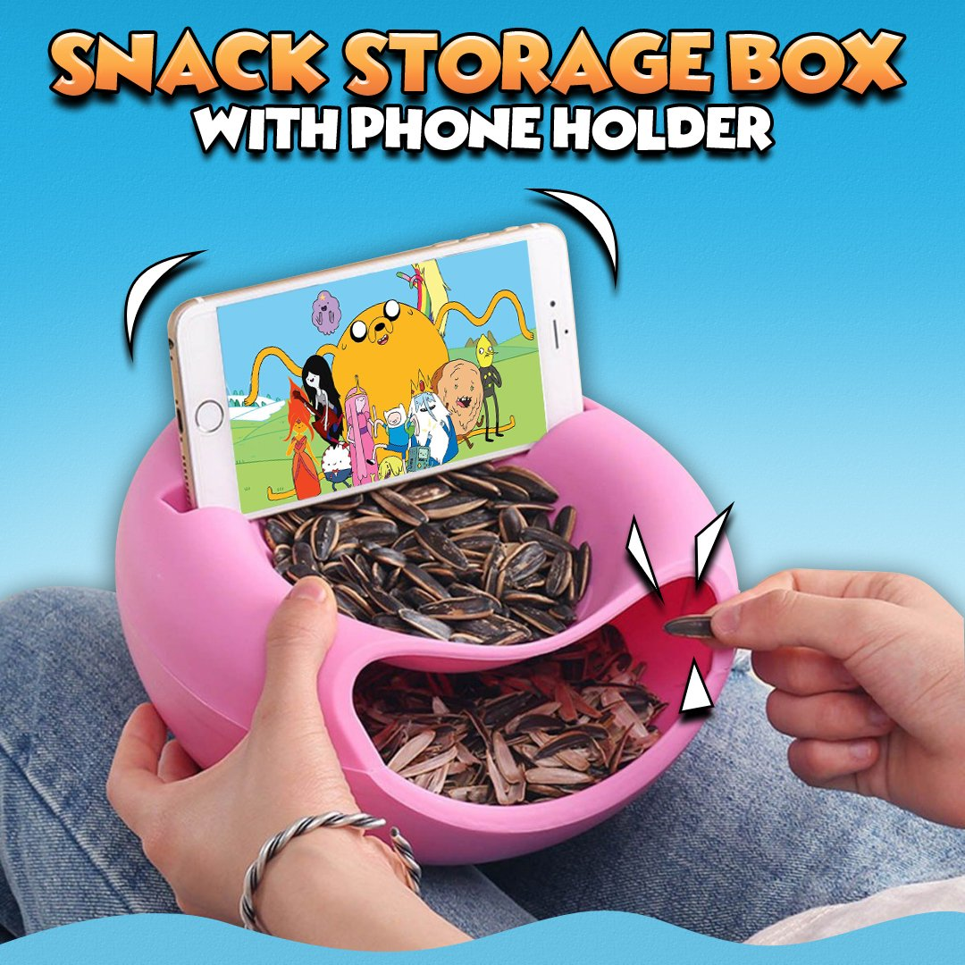 Snack Storage Box with Phone Holder