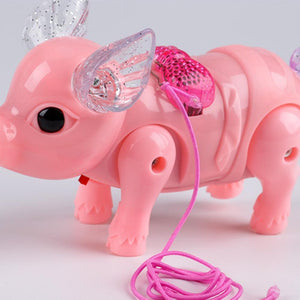Electric LED Walking Pig
