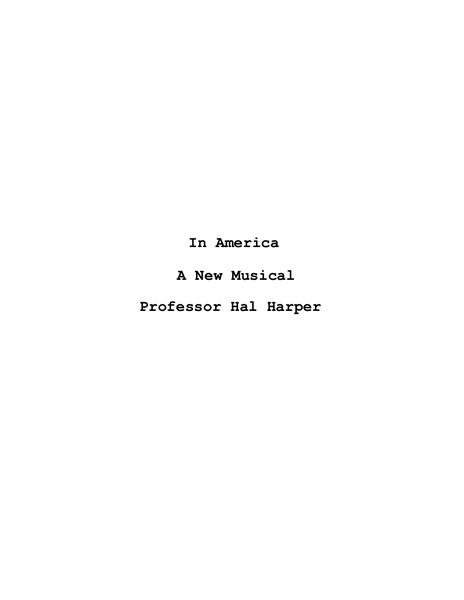 In America Script (156 Pages) (Autographed Copy)
