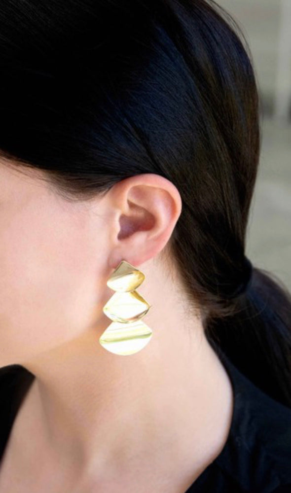 Falling Gold Earrings