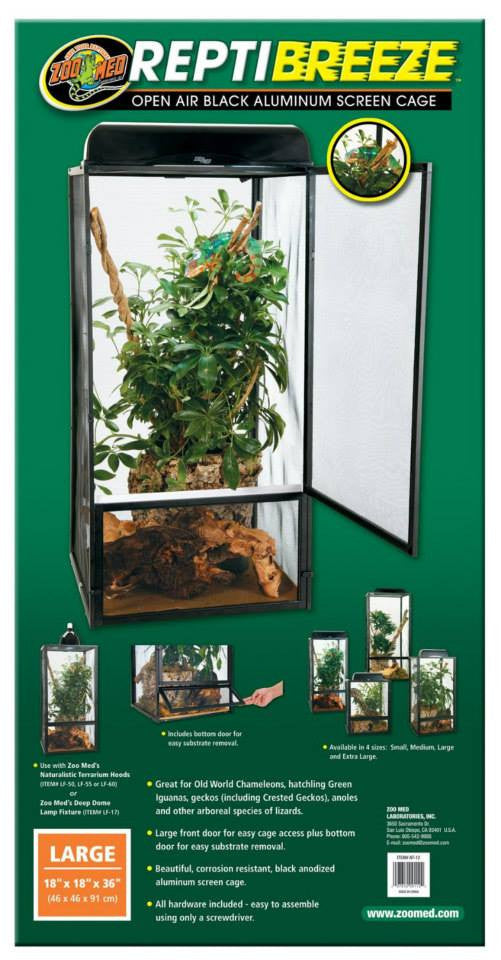 Zoo Med repti breeze Large ( Malla) 46 x 46 x 91 cms
