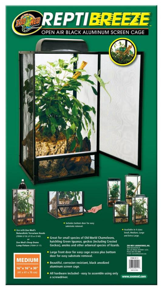 Zoo Med repti breeze Medium( Malla) 41 x 41 x 76 cms