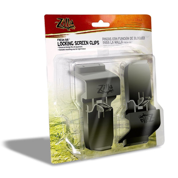 Zilla Locking Screen Clips, 2-Pack (Candado para peceras/terrarios)
