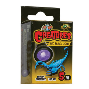 ZOOMED CREATURES BLACK LED LIGHT 5 WATT