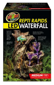 ZOOMED REPTIRAPIDS LED WATERFALL MEDIUM WOOD ( CASCADA LED)