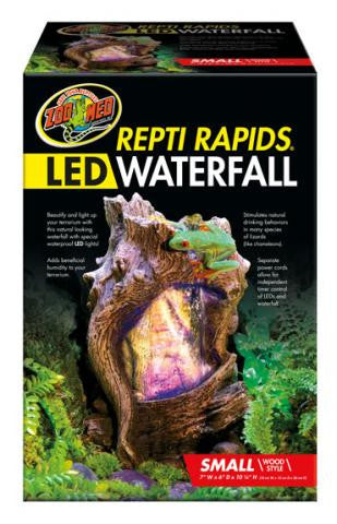 ZOOMED REPTIRAPIDS LED WATERFALL SMALL WOOD ( CASCADA LED)