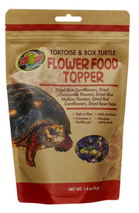 ZOOMED TORTOISE AND BOX TURTLE FLOWER FOOD TOPPER 1.4 OZ