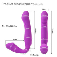 Load image into Gallery viewer, Double Trouble- Strapless Wearable Double Ended Vibrator
