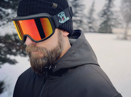 ff68667be1b The new collection of snow goggles includes two styles  The Time Machine  and the Cylindro. The goggles feature the Screaming Hand® and Santa Cruz ...